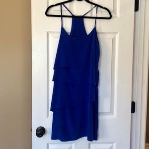 Layered Dress in Colbalt Blue